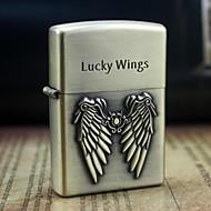 l'or de la terre des ailes chanceux huile de décharge motif métallique légers