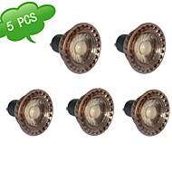 5 stuks GU10 7 W 1 COB 630 LM Warm wit MR16 LED-gloeilampen AC 85-265 V