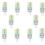 10 pcs G4 3 W 24 SMD 2835 180 LM Warm White / Cool White Bi-pin Lights DC 12 V
