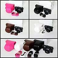 Dengpin PU Leather Camera Protective Case Bag Cover with Shoulder Strap for  Nikon 1 J4/J3 with 10-30mm/11-27.5mm Lens