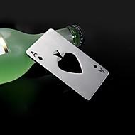casino l'un de pique ouvre-bouteille en acier inoxydable 8,5 * 5,5 * 0,19 cm (3,35 * 2,17 * 0,07 inch0