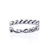 z&x® høy kvalitet 0,5 cm tykkelse 1.1cm bredde kontrakt titan stål menns kjede armbånd