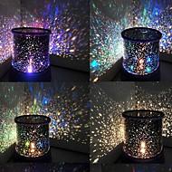 farve-skiftende stjerne skønhed stjernehimmel projektor nat lys (3xAA, tilfældig farve)