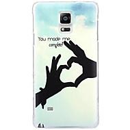 Για Samsung Galaxy Note Με σχέδια tok Πίσω Κάλυμμα tok Καρδιά PC Samsung Note 4