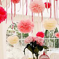 4 inch vloeipapier pom poms huwelijksfeest decor ambachtelijke papieren bloemen bruiloft (set van 4)