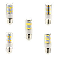 5 pcs E14 / G9 / E26/E27 15W 69 SMD 5730 1500 LM Warm White / Cool White T LED Corn Lights AC 220-240 V