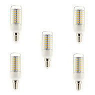 12W E14 / G9 / E26/E27 LED Corn Lights T 56 SMD 5730 1200 lm Warm White / Cool White AC 220-240 V 5 pcs