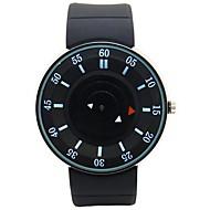 ronde montre cadran de la montre de sport bracelet en silicone japonais montre-bracelet à quartz pour hommes (couleurs assorties)