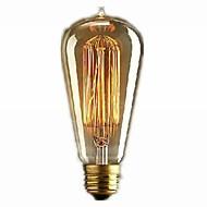 60w caldo stile retrò lampadina e27 600LM industria incandescenza bianca caduta (220v-240v)