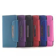 Na Samsung Galaxy Etui Portfel / Etui na karty / Z podpórką / Flip Kılıf Futerał Kılıf Jeden kolor Skóra PU Samsung Alpha