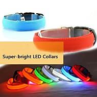ajustable del collar luminoso led para perros (colores surtidos y tamaños)
