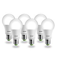 E26/E27 LEDボール型電球 G60 COB 560-630 lm クールホワイト AC 100-240 V 6個