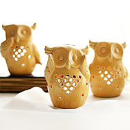 European Style Owl Three Combination Candle Holder(3Pcs)