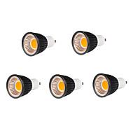 5 stuks MORSEN GU10 7 W 7 COB 500-550 LM Warm wit MR16 Spotjes / Par-lampen AC 85-265 V