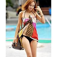 női divat multi print sifon pakolás sál bikini fürdőruha fürdőruha sarong beach fedezi fel