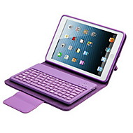 pu lærveske med tastatur for iPad Mini (assorterte farger)