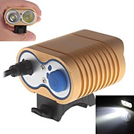 UniqueFire ME-13 Waterproof 4-Mode 2xCree XM-L2 U2 High Power Headlamp (2000lm,4 x 18650,Gold)