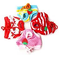 Calças - Todas as Estações - Vermelho / Azul / Rosa - Fantasias - de Algodão - para Cães - S / L / XL
