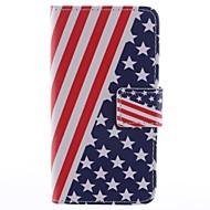 Για Samsung Galaxy Θήκη Θήκη καρτών / με βάση στήριξης / Ανοιγόμενη / Μαγνητική / Με σχέδια tok Πλήρης κάλυψη tok Σημαία Συνθετικό δέρμα