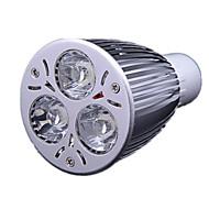 9W GU10 LED Spotlight MR16 3 High Power LED 700-900 lm Cool White AC 220-240 V