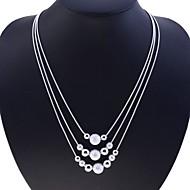 女性 ストランドネックレス 純銀製 スネーク ファッション シルバー ジュエリー パーティー 日常 カジュアル 1個