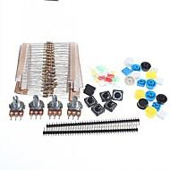 resisters carbono universais + potentiometers partes rotativas estabelecidos para arduino