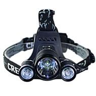 cree T6 + 2 * R5 LED faróis de bicicleta farol lâmpada passeio noite farol outdoor