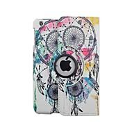 korkealaatuinen maalattu iso kellokukka pyörivä pu suojella kotelo jalustalla iPad mini 1/2/3