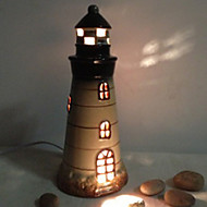 10W LED Lovely Mediterranean Lighthouse Decorated Ceramics Small Table Lamp 220V(Assorted Colors)