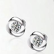 925 srebro kolczyki w kształcie obrotu