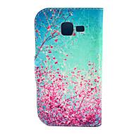 Για Samsung Galaxy Θήκη Θήκη καρτών / με βάση στήριξης / Ανοιγόμενη / Με σχέδια tok Πλήρης κάλυψη tok Λουλούδι Συνθετικό δέρμα Samsung