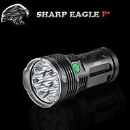 Lampes Torches LED (Etanche / Rechargeable / Résistant aux impacts / Surface antidérapante / Tête crénelée 5 Mode 9600LM LumensCree XM-L