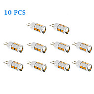10 pcs G4 5 W 10 SMD 5730 480 LM Warm White / Cool White T Corn Bulbs DC 12 V
