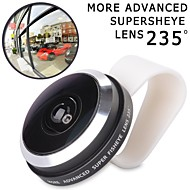 APEXEL 235 Degree Super Fisheye Lens with Universal Detachable Clip for iPhone 6/6 plus/4/5 and Others