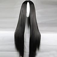 האנימציה החדשה 80cm המגולף השחור הארוך ישר פאת שיער