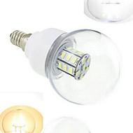 7W E14 Lâmpada Redonda LED 27 SMD 5730 648 lm Branco Quente / Branco Frio DC 12 / DC 24 V 1 pç