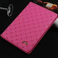 High Quality Heart Shaped Diamond Lattice PU Protect Holster for iPad Air/Air 5