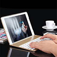 Aluminium Folio Bluetooth Keyboard Protective Case Cover With Colorful Backlit Light for Ipad Air 2 /Ipad 6 Case