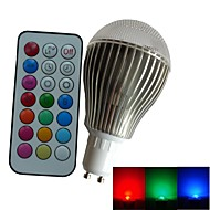 1pcs SchöneColors GU10 9 W 3PCS High Power LED Dimmable/Remote-Controlled/Decorative Globe RGB Led Bulbs AC 85-265 V