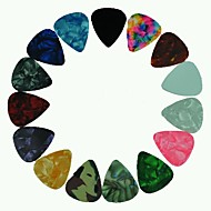 medium 0.71mm gitar plukker plectrums celluloid diverse farger 100stk-pack