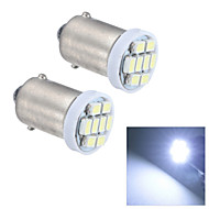 Merdia BA9S 0.5W 20LM 8x1210SMD LED White Light Reading Light/License Plate Lamp/Side light (24V / Pair)