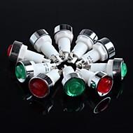 מנורה / אורות / 220v אור הפלסטיק (אדום + ירוק) 10pcs