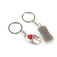 souris keybord mariage romantique trousseau de clés pour le jour de valentine amant (une paire)