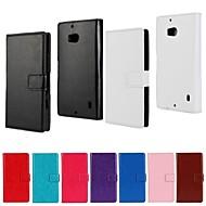 のために Nokiakケース ウォレット / カードホルダー / スタンド付き ケース フルボディー ケース ソリッドカラー ハード PUレザー Nokia Nokia Lumia 930