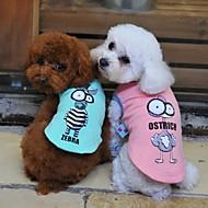 สีดำ / สีเขียว / เหลือง / สีเทา (สีคอเป็นมาตรฐาน) ดวงตาการ์ตูนผ้าฝ้ายเสื้อยืดเสื้อยืดสำหรับสุนัขและสัตว์เลี้ยง