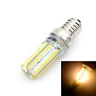 Marsing E14 10W LED Bulb Warm /Cool White Light 3500K/6500K 800lm 96-SMD 3014 Corn lamp - White + Yellow (AC 220~240V)