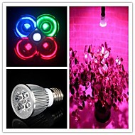 E27 5W (2Red+1Blue+1White+1Green) Full Spectrum Led Grow Light Smallest for Flowering  (85-265V)