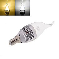 1pcs E14 24LM 2800-3500/5800-6500K Warm White/Cool White Candle Bulbs AC 85-265V