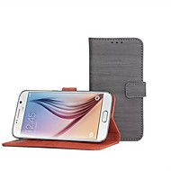 Wallet Insertion Bracket Protective Sleeve Hard Back Cover Case with Hand Rope for Samsung Galaxy S6 (Assorted Color)