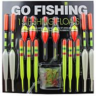 artículos de artes de pesca flotador (15pcs)
